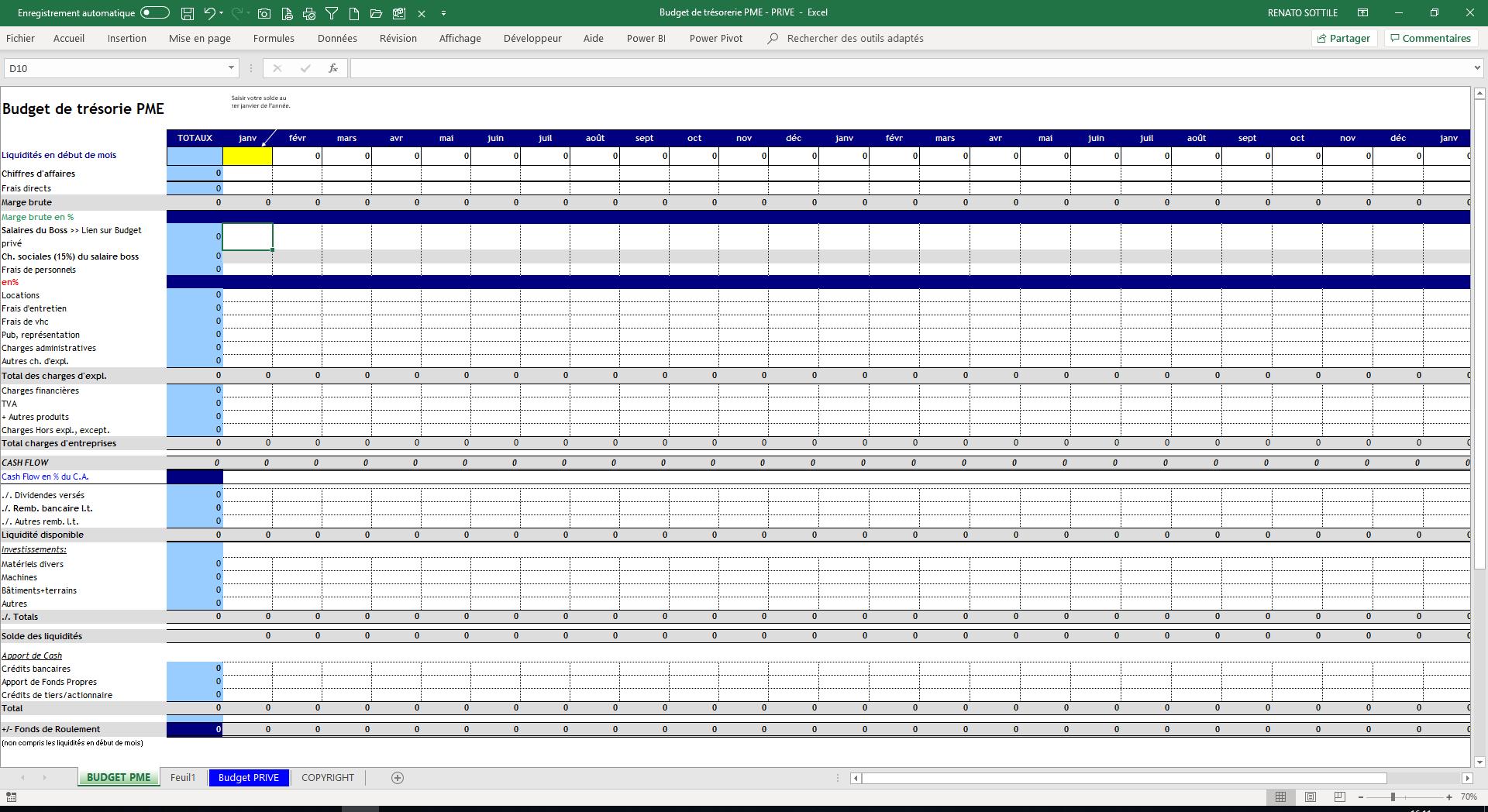 Budget De Tresorerie Sur Excel Gratuit Infogestion Consulting